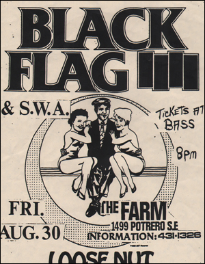 [Black Flag at The Farm / Fri. Aug. 30 [1985]]