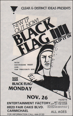 [Black Flag at Entertainment Factory / Mon. Nov. 26 1984]