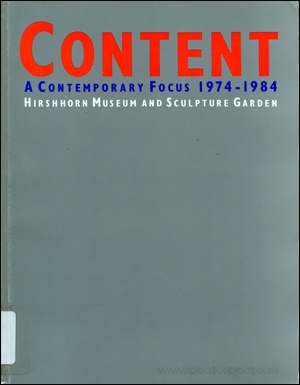 Content : A Contemporary Focus 1974 - 1984