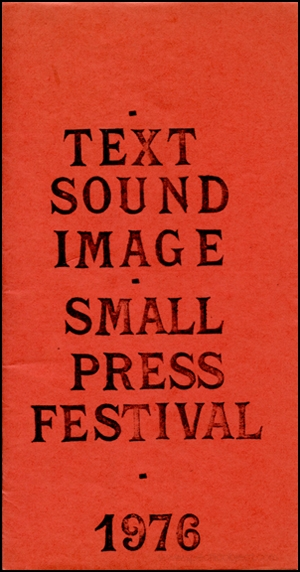 Text Sound Image : Small Press Festival, 1976