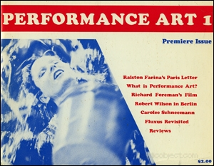 Performance Art 1 : Premiere Issue