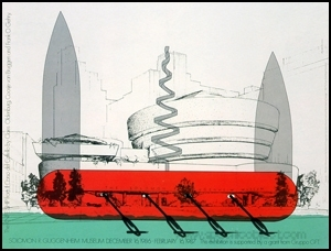 Poster : Knife Ship Superimposed on the Solomon R. Guggenheim Museum