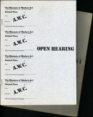 AWC Open Hearing / A.W.C. Documents 1