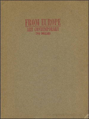 From Europe 1977 : Art Contemporary