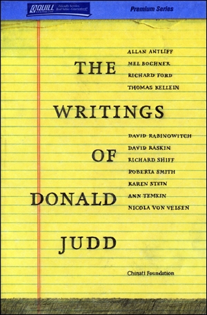 The Writings of Donald Judd