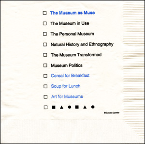 The Museum as Muse Cocktail Napkin