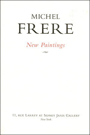 Michel Frere : New Paintings