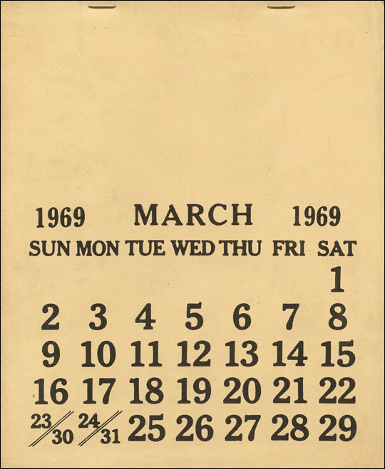 MARCH 1969 [aka : One Month]