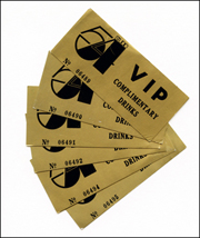 Studio 54 VIP Complimentary Drinks Tickets