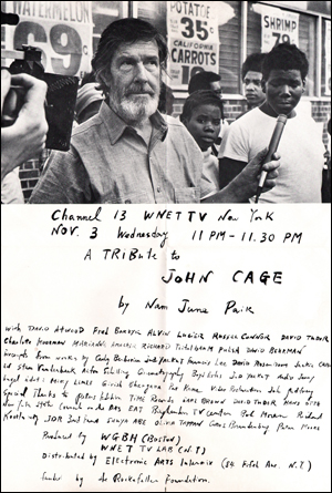 A Tribute to John Cage by Nam June Paik