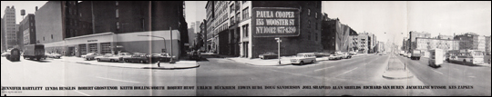 Paula Cooper / 155 Wooster Street / NY / 10012 [Announcement for  New Space and Group Exhibition]