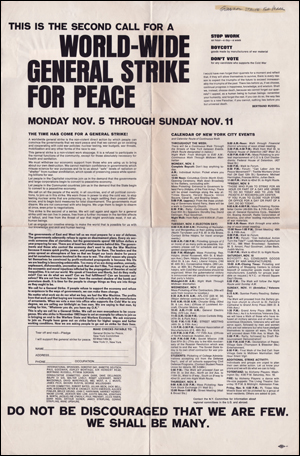 World-Wide General Strike for Peace
