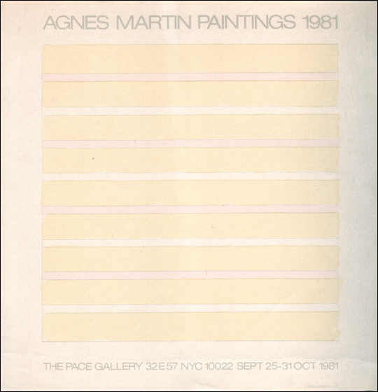 Agnes Martin : Paintings 1981