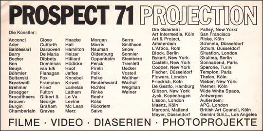 Prospect 71 : Projection