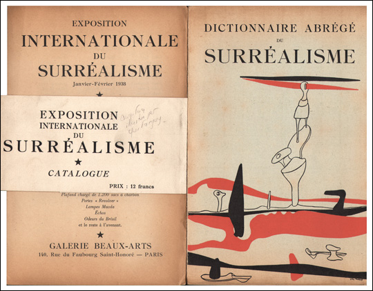 Dictionnaire Abrégé du Surrealisme / Exposition Internationale Du Surréalisme