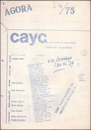 Agora 74/75 : CAYC, Art and Technology in Latin America