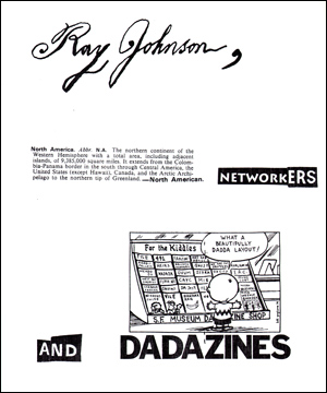 Steven Leiber, Catalog 23 : Ray Johnson, North American Networkers and Dadazines