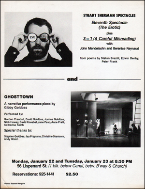 Stuart Sherman Spectacles : Eleventh Spectacle (The Erotic) Plus 3 = 1 (A Careful Misreading) and Ghosttown