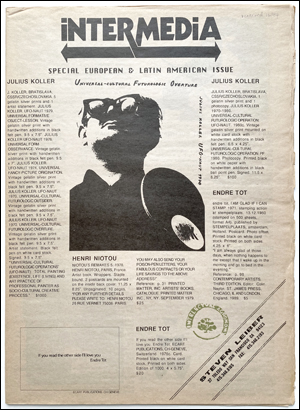 Steven Leiber, Catalog 20 : Intermedia, Special European & Latin American Issue