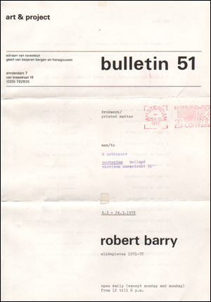 Bulletin 51 : Slidepieces 1971 - 72
