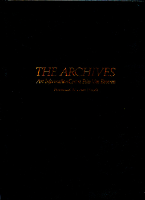 The Archives : Art Information Centre Peter van Beveren