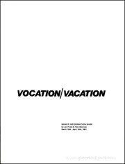Vocation / Vacation