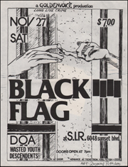 [Black Flag at S.I.R. / Sat. Nov. 27 1982]