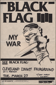 [Black Flag at the Cleveland County Fairground [full size poster] / Tue. Mar. 27 1984]