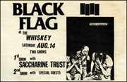 [Black Flag at the Whiskey / Saturday Aug. 14]