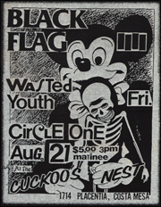 [Black Flag at the Cuckoos Nest / Wed. Aug. 26 1981]