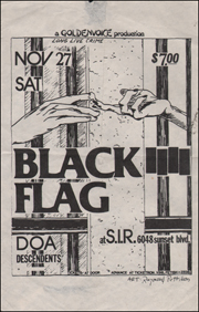 [Black Flag at S.I.R. / Sat. Nov. 27 1982 / Small]