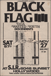 [Black Flag at S.I.R. / Sat. Nov. 27 1982] [Large]