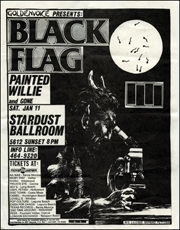 [Black Flag at the Stardust Ballroom / Sat. Jan 11 ] [Texture in Typography]