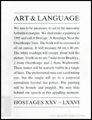 Art & Language : Hostages XXV - LXXVI