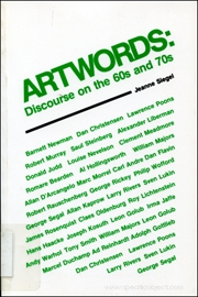 Artwords : Discourse on the 60s and 70s