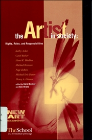The Artist in Society : Roles, Rights and Responsibilities