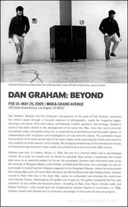 Dan Graham : Beyond