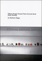 Fifteen People Present Their Favorite Book [After Kosuth]