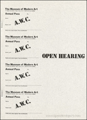A.W.C. : Open Hearing / An Open Public Hearing on the Subject : What Should be the Program of the Art Workers Regarding Museum Reform and to Establish the Program of an Open Art Workers Coalition [AWC]