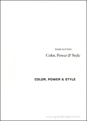 Wade Guyton : Color, Power & Style