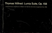 Thomas Wilfred : Lumia Suite, Op. 158