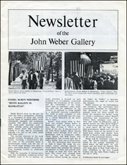 Newsletter of the John Weber Gallery