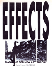 Effects : Magazine for New Art Theory, Semblance and Mediation