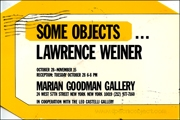 Some Objects... Lawrence Weiner