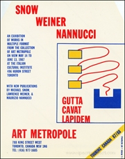 Snow, Weiner, Nannucci : An Exhibition of Works in Multiple Formats from the Collection of Art Metropole