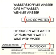 Hydrogen with Water / Gypsum with Water / Wine with Water