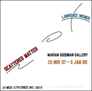 Lawrence Weiner : Scattered Matter