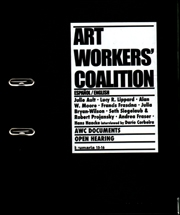 Brumaria 15 - 16 : Art Workers' Coalition