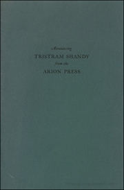 Announcing Tristram Shandy from the Arion Press