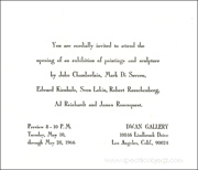 Dwan Gallery Group Show Invitation